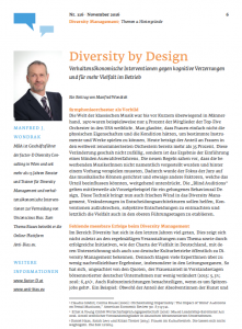 Diversity by Design Artikel im KM Magazin