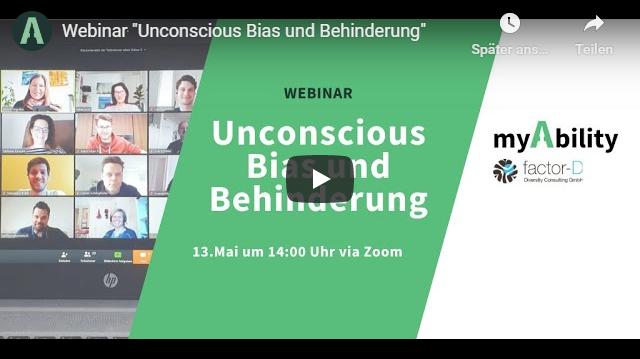 Webinar – Unconscious Bias und Behinderung
